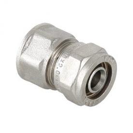 Соединитель обжимной Valtec с переходом на внутреннюю резьбу 16х1/2 мм