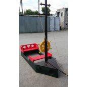 Пісочниця Човен для дитячого майданчика 800x2200 мм