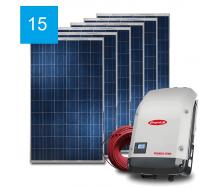 Сетевая солнечная электростанция 15 кВт под Зеленый тариф