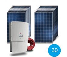 Сетевая солнечная электростанция 30 кВт под Зеленый тариф