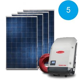 Сетевая солнечная электростанция 5 кВт под Зеленый тариф