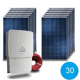 Мережева сонячна електростанція 30 кВт під Зелений тариф