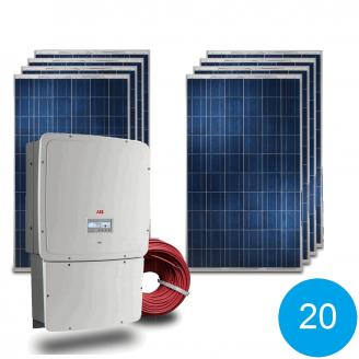 Сетевая солнечная электростанция 20 кВт под Зеленый тариф