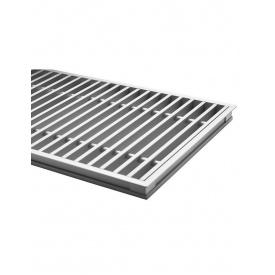 Комплект S рамка с алюминиевой решеткой для конвекторов Carrera S Inox/Black 90/120. 230.1000.