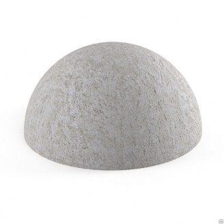 Полусфера бетонная серая для парковки 230х460 мм вес 55 кг