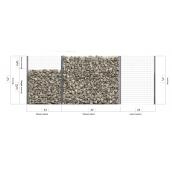 Садовое ограждение из габионов Vision Прогресс-7 с панелями и решеткой в разных пропорциях