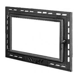 Дверца для камина KAWMET W9 с прямым стеклом 680х490 мм