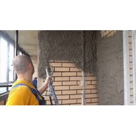 Штукатурка стен в здании машинным способом