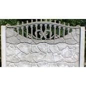 Забор односторонний Vivat Пазл ажур 200х50 см серый