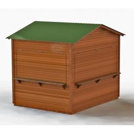 Торговый павильон Промконтракт деревянный 2,25х2,25 м зеленый