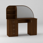 Туалетный столик Компанит Трюмо-6 1300х1300х460 мм орех