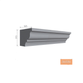 Подоконник фасадный Тимис 2000х170х185 мм из армированого пенопласта арт 00330