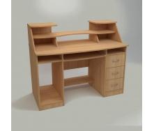 Компьютерный стол Компанит Комфорт-5 1268х650х756 мм бук