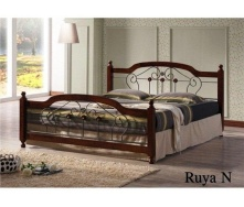 Кровать ONDER MEBLI Ruya N 1800х2000 мм античное золото/орех