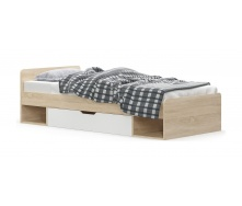 Ліжко Меблі-Сервіс Тіпс 600х2032х956 мм дуб самоа/білий матовий