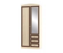 Шкаф Мебель-Сервис Дисней 2Д3Ш 900х565х2180 мм дуб светлый