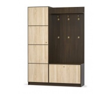 Прихожая Мебель-Сервис Фантазия 150 2160х1504х439 мм венге темный/дуб самоа