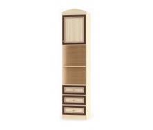 Пенал Мебель-Сервис Дисней 1Д3Ш 500х377х2180 мм дуб светлый