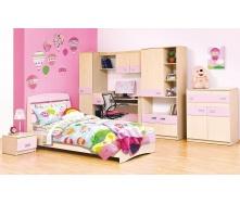Детская Мир Мебели Терри розовая/клен