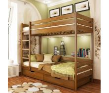 Кровать двухъярусная Эстелла Дуэт 103 90x200 см массив