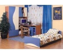 Дитяча БМФ Еколь 1620х2030х420 мм синій / вільха