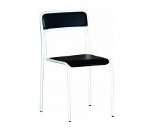 Офісний стілець АМF Аскона Кожзам чорний 470х490х810 мм білий лак