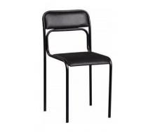 Офісний стілець АМF Аскона Кожзам чорний 470х490х810 мм чорний лак