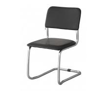 Офисный стул АМF Квест к/з черный 570х470х810 мм белый лак