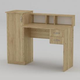Письмовий стіл Компанит Пі-Пі-1 1175х550х736 мм дуб сонома