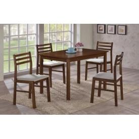 Столовий комплект ONDER MEBLI 4001 1100х750х738/443х400х825 мм шоколад