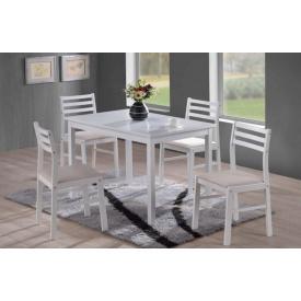 Столовий комплект ONDER MEBLI 4007 1100х750х738/443х400х825 мм білий