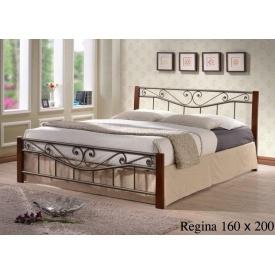 Кровать ONDER MEBLI Regina 1600х2000 мм античное золото/орех