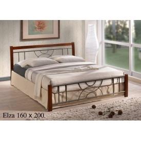 Кровать ONDER MEBLI Elza 1600х2000 мм античное золото/орех