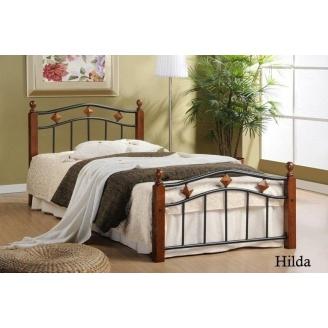 Кровать ONDER MEBLI Hilda S 900х1900 мм античное золото/орех