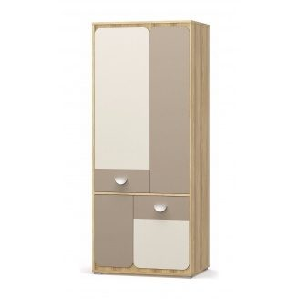 Шкаф Мебель-Сервис Лами 4Д 1966х802х552 мм блеквуд ячменный/шампань/капучино