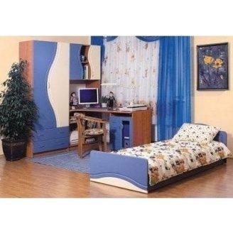 Детская БМФ Эколь 1620х2030х420 мм синий/ольха