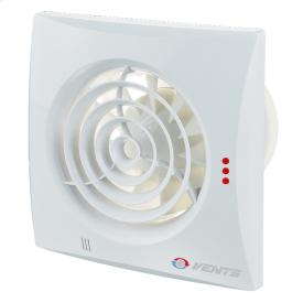 Вентилятор ВЕНТС Квайт 100 Дуо ТН енергозберігаючий осьовий 158х158 мм 90 м3/год білий