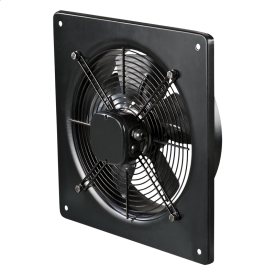 Вентилятор ВЕНТС ОВ 4Е 350 промисловий вісьовий 2500 м3/ч 485х485 мм чорний