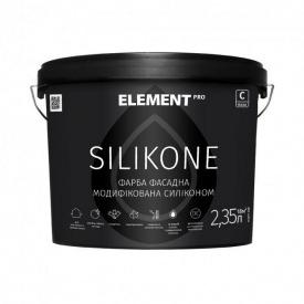 Фасадная краска Element Pro Silikone база С матовая 2,35 л прозрачная