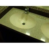 Стільниця індивідуальна у ванну кімнату суцільнолита з чашею овал великий 510х380 мм