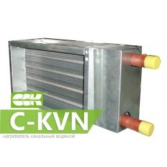 C-KVN воздухонагреватель водяной канальный прямоугольный