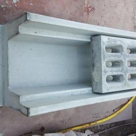Железобетонный водосток МикаБет глубокий с решетками 82х40х30 см серый