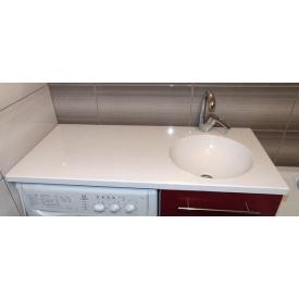 Стільниця індивідуальна у ванну кімнату суцільнолита з чашею Глорія 360 мм 150 мм