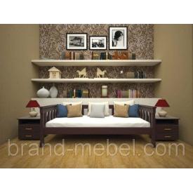 Деревянная кровать-диван ТИС Рондо 3 дуб 80х190