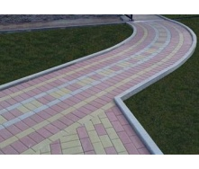 Установка поребрика под тротуарную плитку 500х200х60 мм