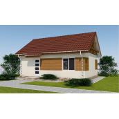 Проект одноповерхового будинку М2-113 55 м2