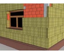 Утеплення фасаду мінеральної ватою