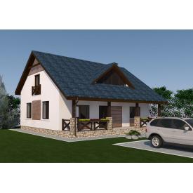 Проект двоповерхового будинку М2-125 198 м2