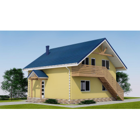 Проект двоповерхового будинку М2-114 55 м2