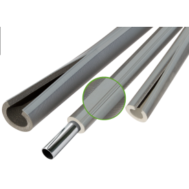 Теплоизоляция для труб из вспененого полиэтилена Thermaflex Eco Line G grey 6 мм ДУ 35 мм